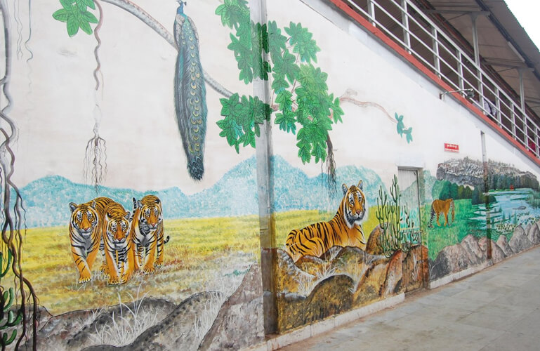 Painting at Ranthambore Railway Station