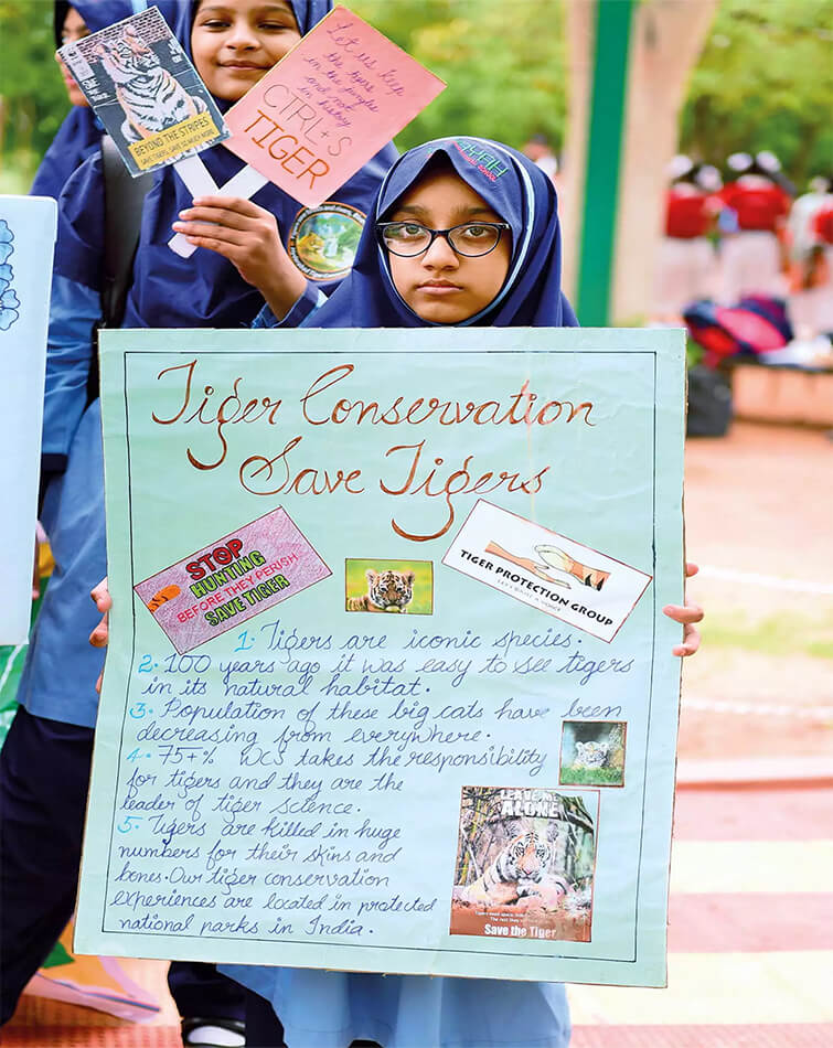 School Children Come Forward Spreading the Awareness about